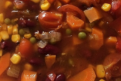 Mexikanische Gemüsesuppe 1