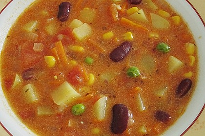 Mexikanische Gemüsesuppe 7