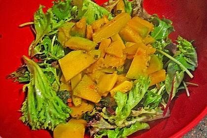 Gebratener Kürbis auf Blattsalaten 5