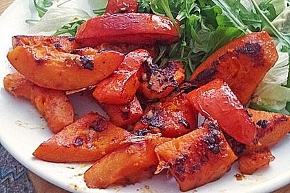 Gebratener Kürbis auf Blattsalaten 3