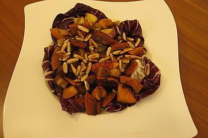 Gebratener Kürbis auf Blattsalaten 4