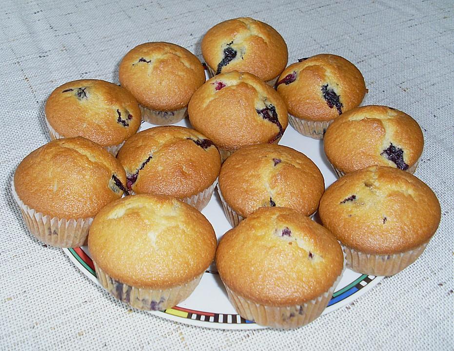 schnelle heidelbeer muffins rezept mit bild von luckys home. Black Bedroom Furniture Sets. Home Design Ideas