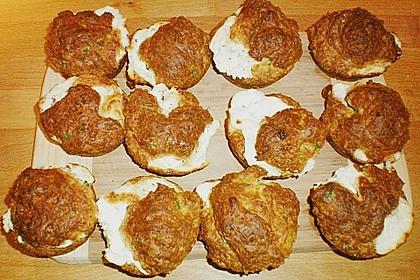 Muffins mit Schafskäse (Bild)