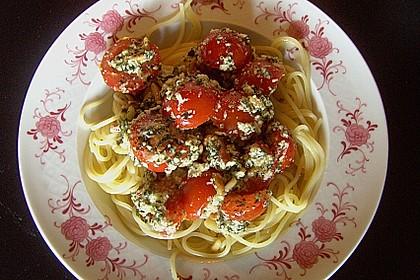 Spaghetti mit Cocktailtomaten 51