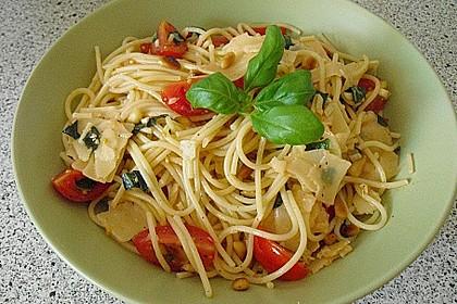 Spaghetti mit Cocktailtomaten 15