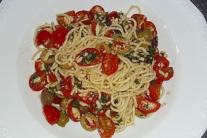 Spaghetti mit Cocktailtomaten 31