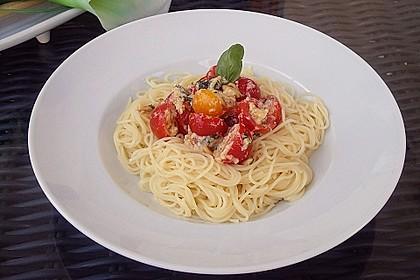 Spaghetti mit Cocktailtomaten 20