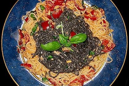 Spaghetti mit Cocktailtomaten 49