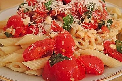 Spaghetti mit Cocktailtomaten 22