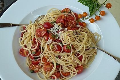 Spaghetti mit Cocktailtomaten 3