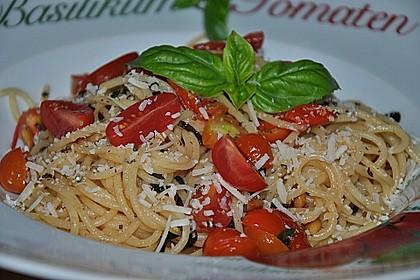 Spaghetti mit Cocktailtomaten 4