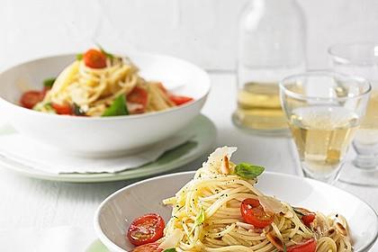 Spaghetti mit Cocktailtomaten 2
