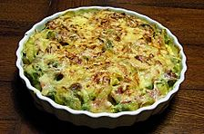 Rosenkohl - Kartoffel - Schinken - Gratin