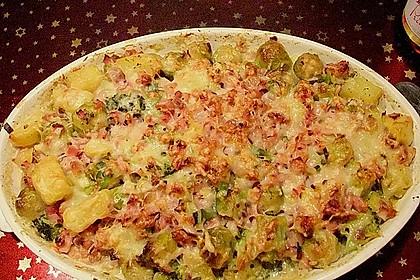 Rosenkohl - Kartoffel - Schinken - Gratin 3