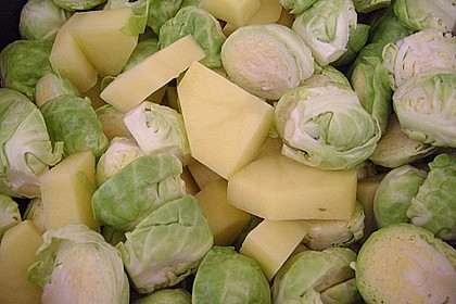 Rosenkohl - Kartoffel - Schinken - Gratin 6