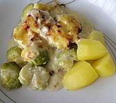 Rosenkohl - Kartoffel - Schinken - Gratin (Bild)