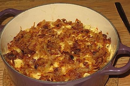 Käsespätzle mit Zwiebeln 2