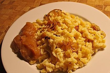 Käsespätzle mit Zwiebeln 3