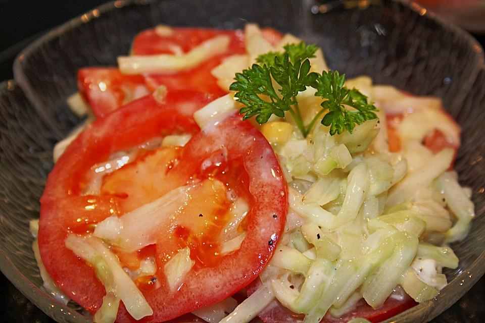 tomaten gurken salat rezept mit bild von susannemsb. Black Bedroom Furniture Sets. Home Design Ideas