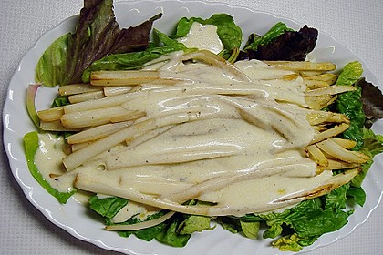 Spargel - Spinat  Salat