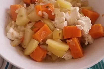 Süßkartoffel - Kartoffel - Fenchel - Auflauf 15