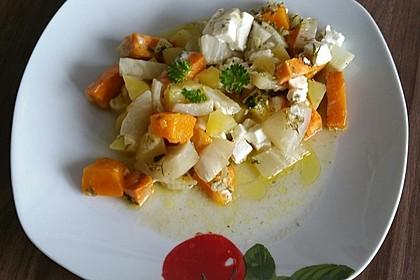 Süßkartoffel - Kartoffel - Fenchel - Auflauf 8