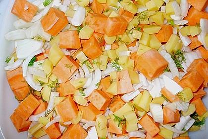 Süßkartoffel - Kartoffel - Fenchel - Auflauf 11