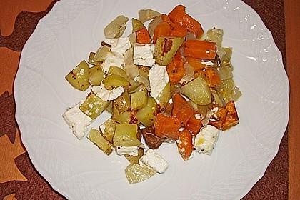 Süßkartoffel - Kartoffel - Fenchel - Auflauf 9