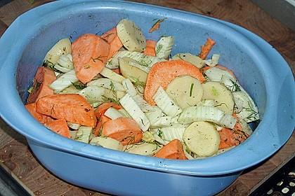 Süßkartoffel - Kartoffel - Fenchel - Auflauf 17