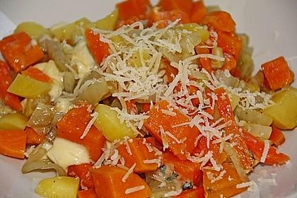 Süßkartoffel - Kartoffel - Fenchel - Auflauf 1