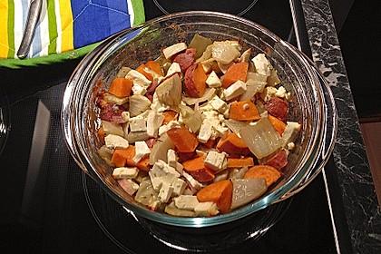 Süßkartoffel - Kartoffel - Fenchel - Auflauf 16