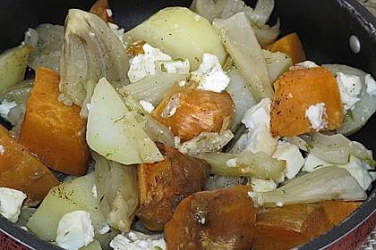 Süßkartoffel - Kartoffel - Fenchel - Auflauf 3
