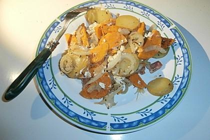 Süßkartoffel - Kartoffel - Fenchel - Auflauf 12