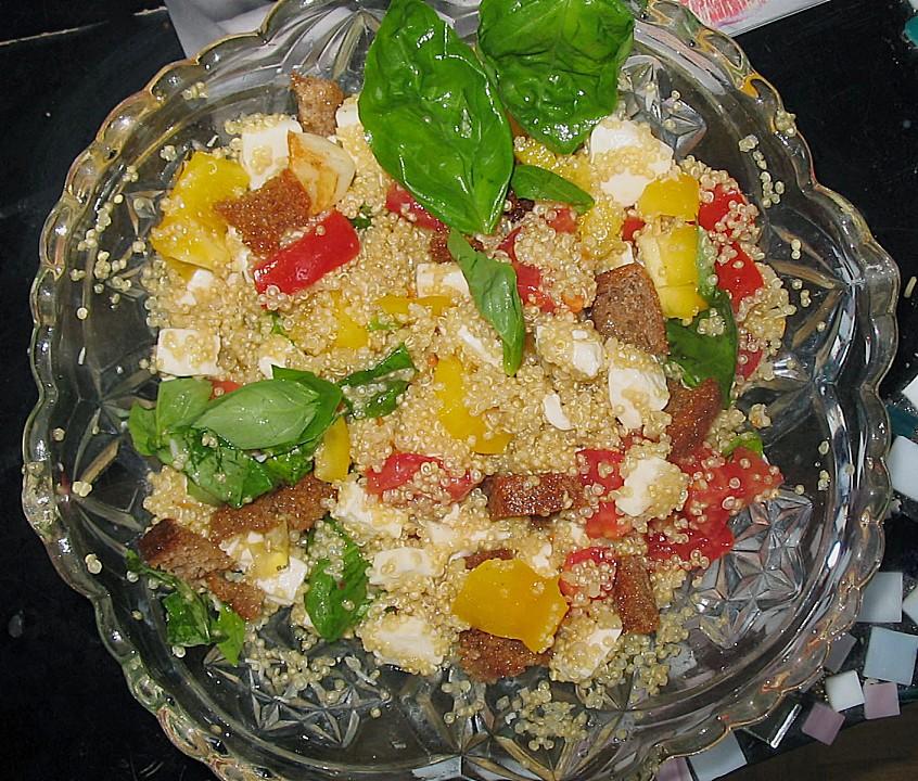 quinoa salat caprese rezept mit bild von kaffeeleene. Black Bedroom Furniture Sets. Home Design Ideas