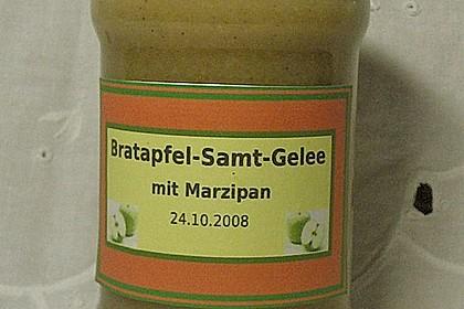 Bratapfel - Samtgelee mit Marzipan 3