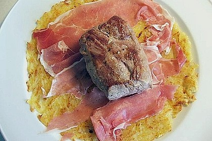 Albertos Schweinefilet in Parmaschinken und Rösti 2