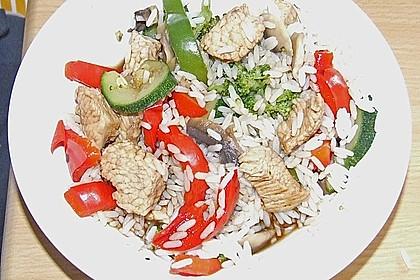 Wokgemüse mit Putenfleisch 1