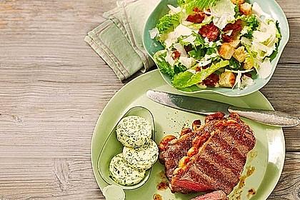 Mariniertes Steak mit Grillkartoffel und Gemüsespieß 1