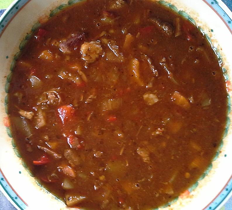 Gulaschsuppe ungarische art rezept mit bild von lisa50 for Ungarische gulaschsuppe