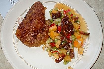 Knusprige Ente mit fruchtiger Salsa