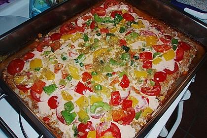 Hackfleischpizza ohne Teig 4
