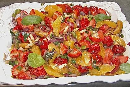 Erdbeersalat in Orangensauce 1