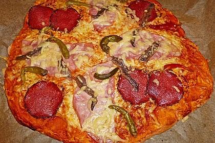 Quark - Öl - Teig für Pizza 1