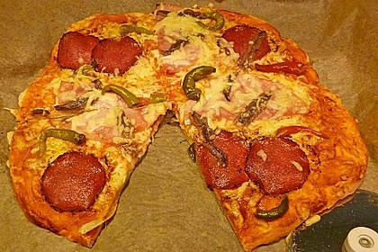 Quark - Öl - Teig für Pizza 6