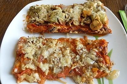 Quark - Öl - Teig für Pizza 9
