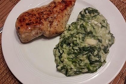 Risotto mit Spinat und Gorgonzola 15