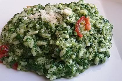 Risotto mit Spinat und Gorgonzola 1