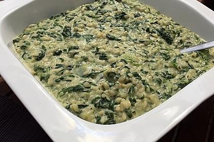 Risotto mit Spinat und Gorgonzola 29