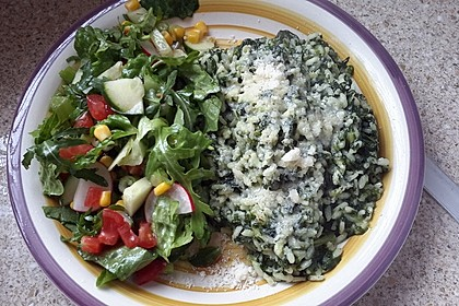 Risotto mit Spinat und Gorgonzola 28