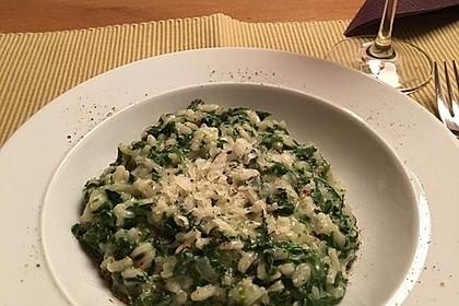 Risotto mit Spinat und Gorgonzola 3
